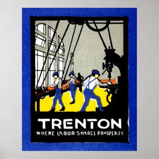 1915 Vintage Trenton New Jersey Poster