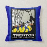 1915 Vintage Trenton New Jersey Throw Pillows