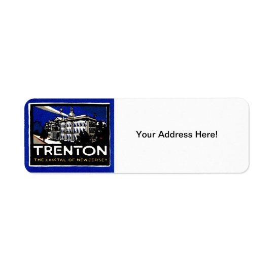 1915 Vintage Trenton NJ Label