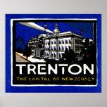 1915 Vintage Trenton NJ Poster