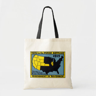 1915 Vote for Womans Suffrage Budget Tote Bag
