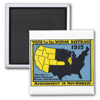 1915 Vote for Womans Suffrage Fridge Magnet