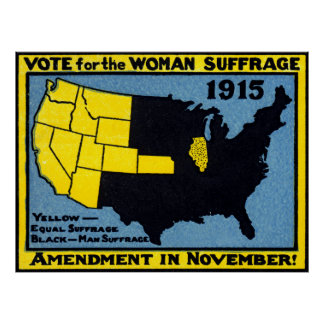 1915 Vote for Womans Suffrage Poster