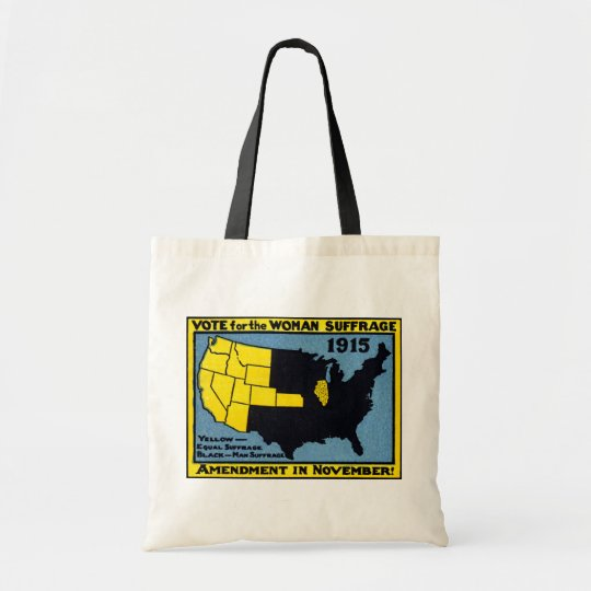 1915 Vote for Womans Suffrage Tote Bag