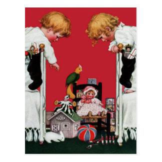 """1915! """"WHAT DID SANTA BRING"""" CHRISTMAS MORNING POST CARDS"""
