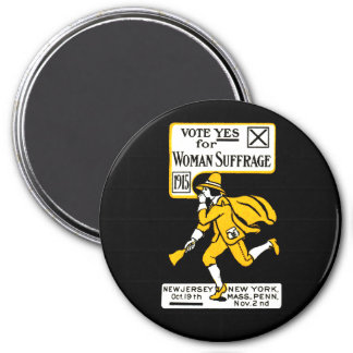 1915 Yes Womens Suffrage Poster Fridge Magnet
