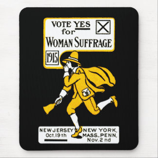 1915 Yes! Womens Suffrage Poster Mouse Pad