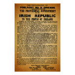1916 Easter Rising Irish Proclamation Poster