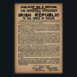 """1916 Irish Proclamation (Original Copy 19&quot;x13&quot;) Poster<br><div class=""""desc"""">19&quot; x 13&quot; Original copy of the 1916 Proclamation of Ireland. The 1916 Proclamation was a document issued by the Irish Volunteers and Irish Citizen Army during the 1916 Easter Rising in Ireland. In it, the Provisional Government of the Irish Republic, proclaimed Ireland&#39;s independence from the United Kingdom. The proclamation...</div>"""