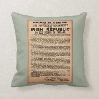 1916 Proclamation of Ireland Cushion