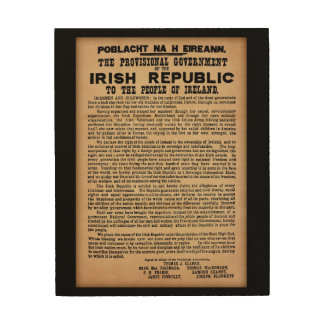 1916 Proclamation of Ireland Wooden Wall Art