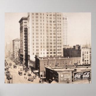 1916 Skyline of Birmingham, AL Vintage Photograph Poster