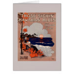 1916 Vintage Hawaii blues sheet music cover Card