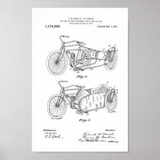 1916 Vintage Motorcycle Patent Art Print
