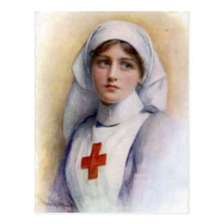1916 Vintage Reproduction Nurse Postcard