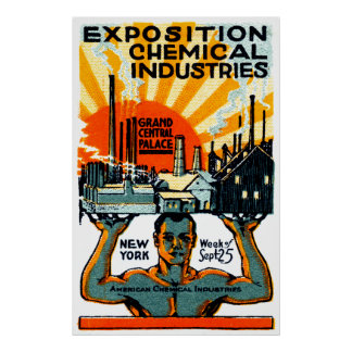 1917 Chemical Exposition Poster