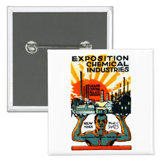 1917 Chemical Exposition Poster Button
