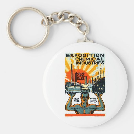 1917 Chemical Exposition Poster Keychain