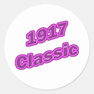 1917 Classic Purple Classic Round Sticker