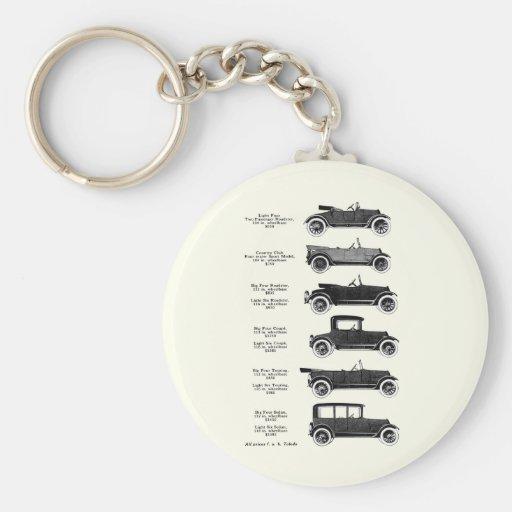 1917 coches antiguos llavero redondo tipo pin