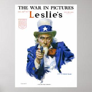 1917 Leslie's Weekly Uncle Sam Poster
