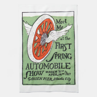 1917 New Jersey Spring Auto Show Hand Towel