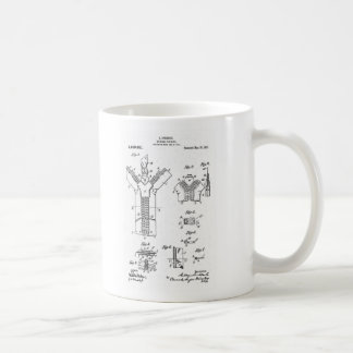 "1917 Patent of the ""Separable Fastener"" Zipper Coffee Mug"