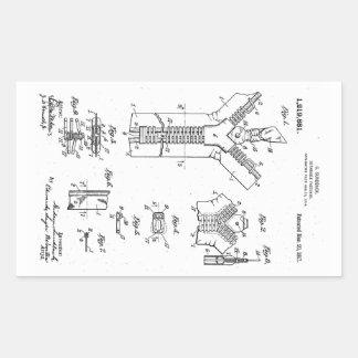 "1917 Patent of the ""Separable Fastener"" Zipper Rectangular Sticker"