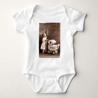 1917 Patriotic Nurse Baby Bodysuit