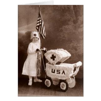 1917 Patriotic Nurse Card