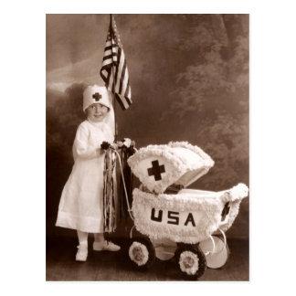 1917 Patriotic Nurse Postcard