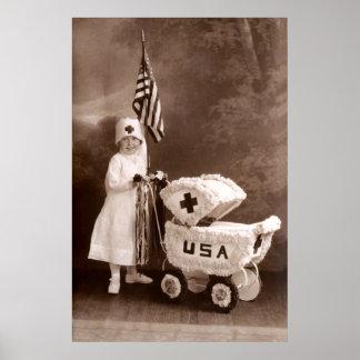 1917 Patriotic Nurse Poster