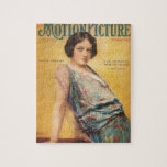 1917 Pauline Frederick silent movie actress Jigsaw Puzzle