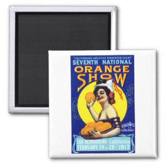 1917 San Bernardino Poster 2 Inch Square Magnet