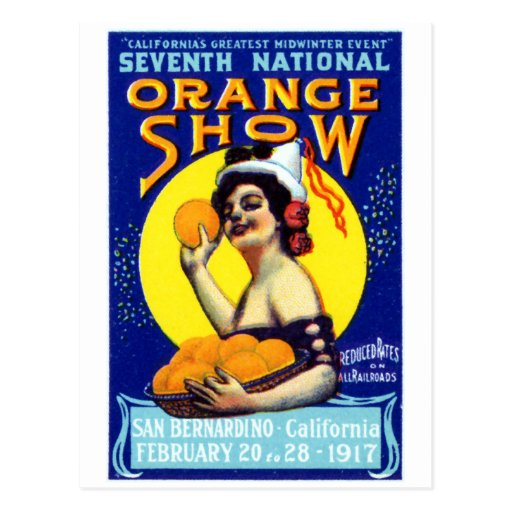 1917 San Bernardino Poster Postcard