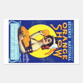 1917 San Bernardino Poster Rectangle Stickers