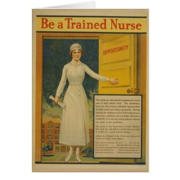 1917 WWI Poster Be A Trained Nurse Card