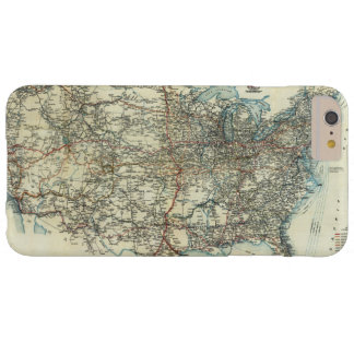 1918 AAA General Map of Transcontinental Routes Barely There iPhone 6 Plus Case