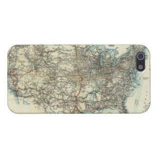 1918 AAA General Map of Transcontinental Routes iPhone SE/5/5s Case