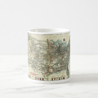 1918 AAA General Map of Transcontinental Routes Classic White Coffee Mug