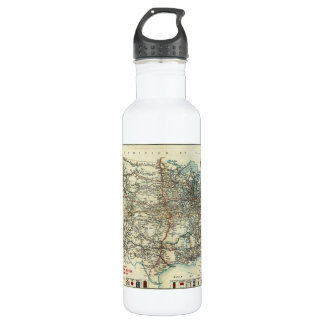 1918 AAA General Map of Transcontinental Routes Stainless Steel Water Bottle