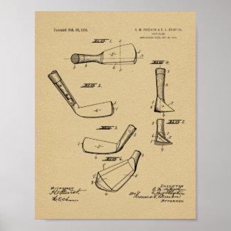 1918 Golf Club Head Patent Art Drawing Print