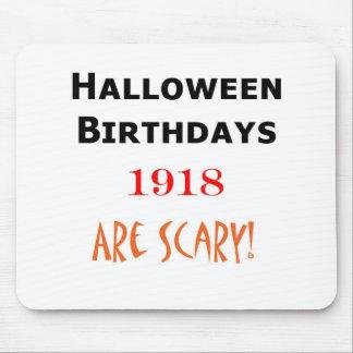 1918 halloween birthday mouse pad