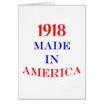 1918 hizo en América Felicitacion