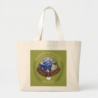 1918 Migratory Bird Treaty Act - 100 Years Old Large Tote Bag