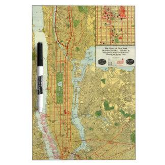 1918 New York Central Railroad Map Dry-Erase Board