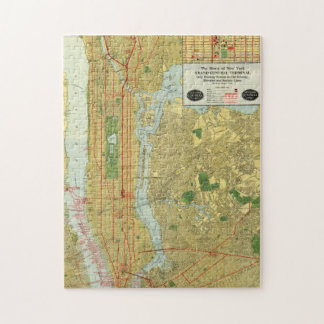 1918 New York Central Railroad Map Jigsaw Puzzle
