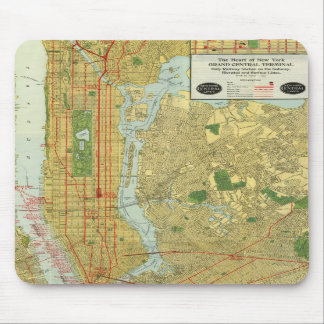 1918 New York Central Railroad Map Mousepads