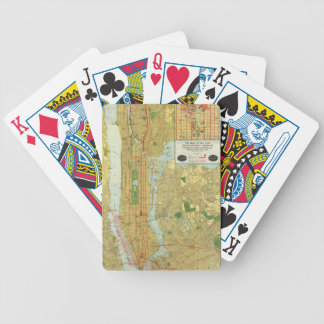 1918 New York Central Railroad Map Bicycle Playing Cards