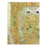 1918 New York Central Railroad Map Post Cards